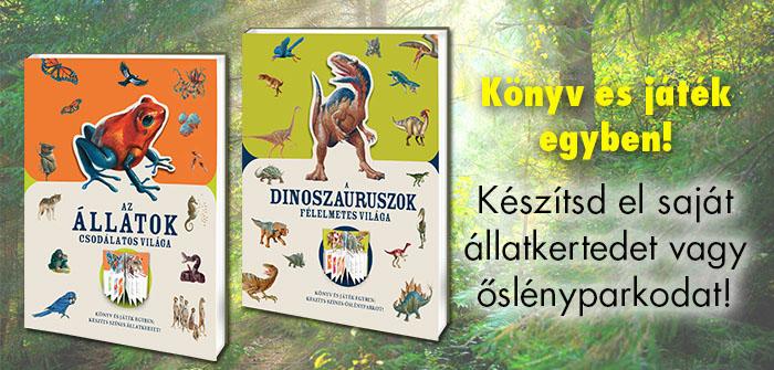 Az állatok csodálatos világa, A dinoszauruszok félelmetes világa - könyv és játék!