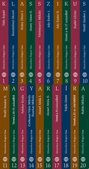 Klasszikus magyar líra sorozat 1-20. kötet