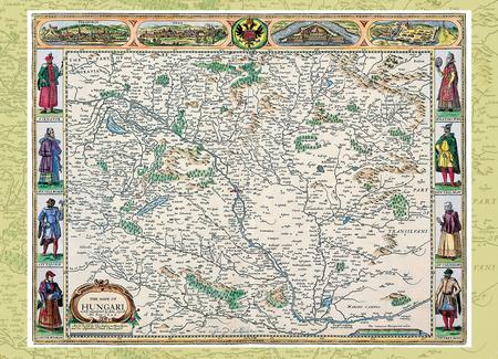 Magyarország régi térképeken 1. rész - John Speed Magyarország-térképe (1626)
