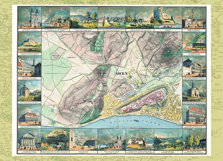Magyarország régi térképeken 2. rész - Buda látrajzokkal díszített térképe (1837)
