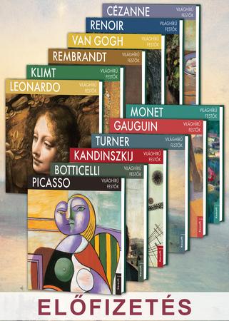 Világhírű festők sorozat előfizetés 1-12. kötet