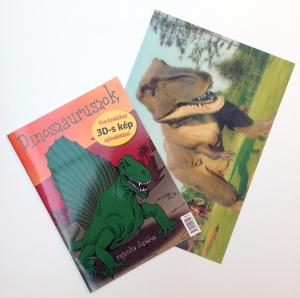 Dinoszauruszok - kifestőkönyvVarázslatos 3D-s kép ajándékba!