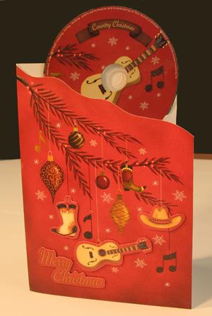 Karácsonyi country - képeslap CD