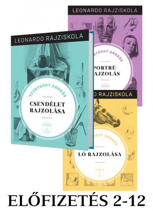 Leonardo rajziskola Bookazine sorozat előfizetés 2-12. kötet
