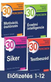 Hasznos tudás mindenkinek 30 percben sorozat előfizetés 1-12. kötet