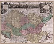 Magyarország 1717 - reprint térkép
